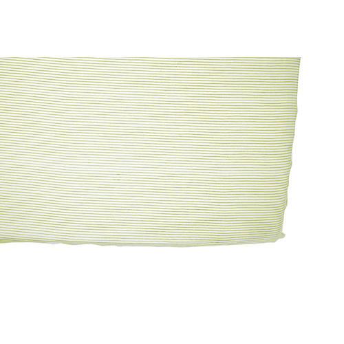 Pencil Stripe Baby Crib Sheet, Citron