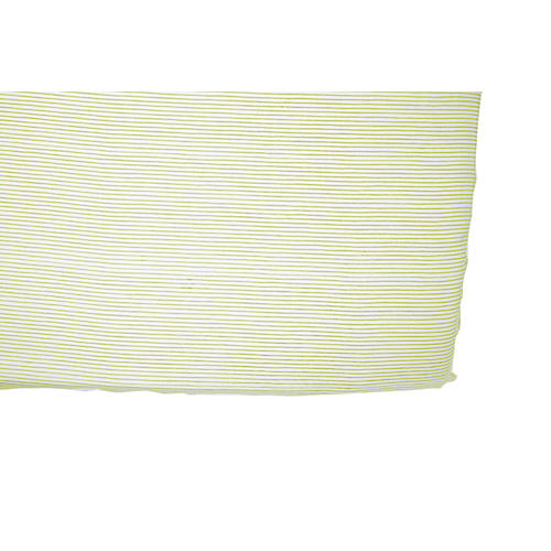 Pencil Stripe Baby Crib Sheet, Citron