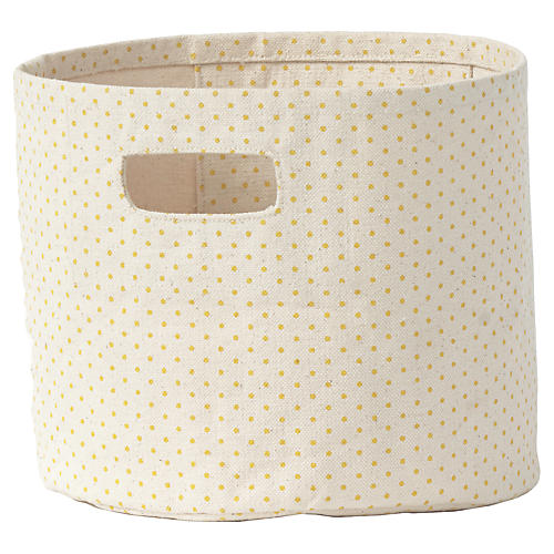 Pin Dot Kids' Mini Storage, Yellow