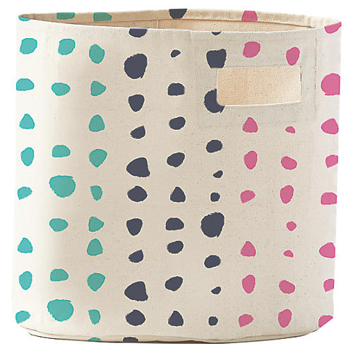 Painted Dots Kids' Storage, Blue/Multi