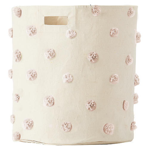 Pom-Pom Kids' Hamper, Blush
