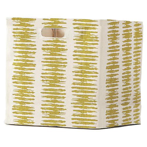 Static Stripe Cube Storage, Citron