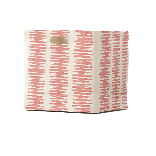 Static Stripe Cube Storage, Persimmon