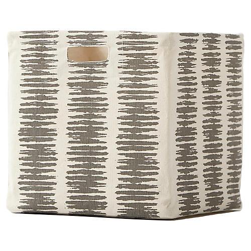 Static Stripe Small Cube Storage, Gray