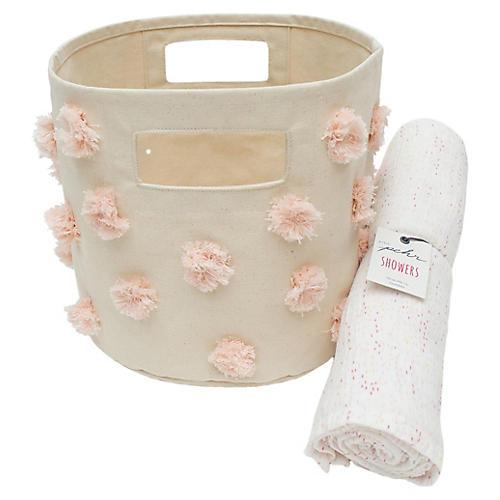 Pom Pom Baby Gift Set, Pink