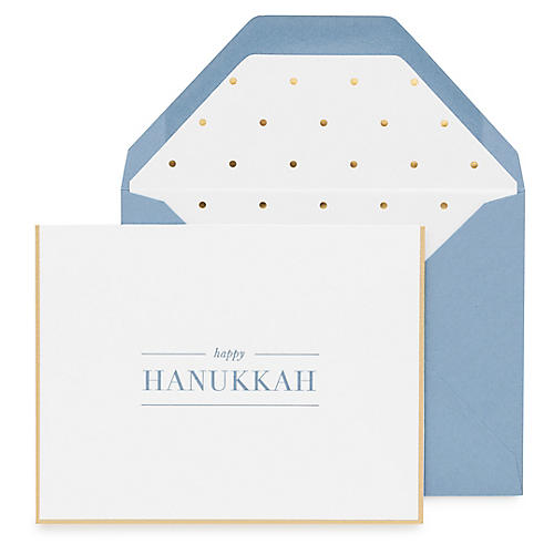 S/6 Happy Hanukkah Greeting Cards