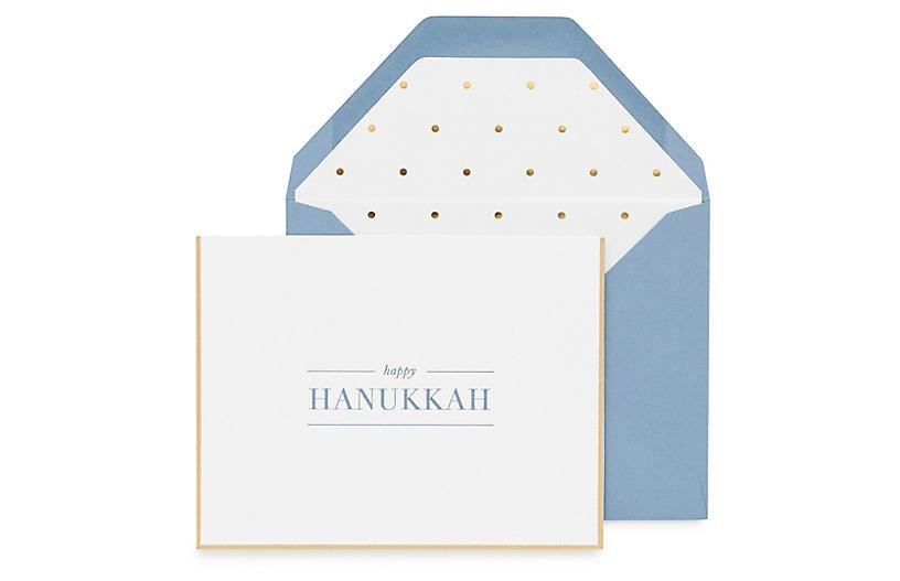 S/6 Happy Hanukkah Greeting Cards