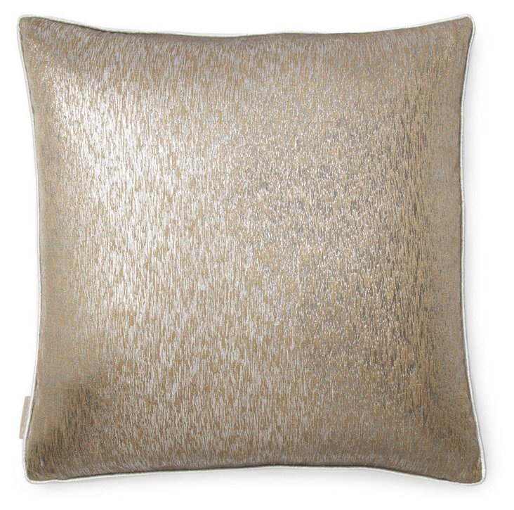 Gunmetal 20x20 Silk Pillow, Copper