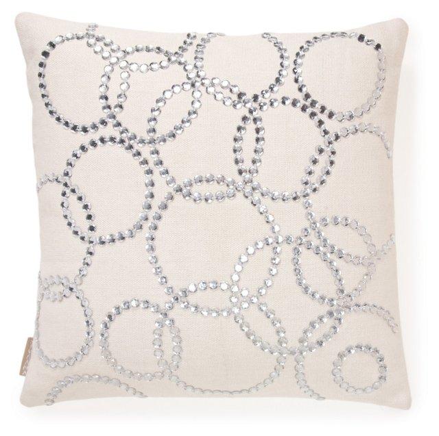 Dazzle Mirror 20x20 Pillow, Off-White