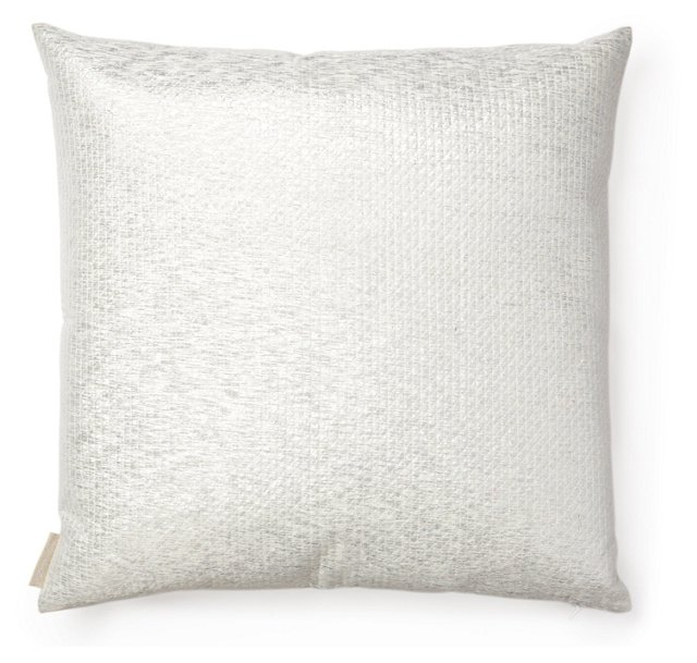 Quilting 20x20 Silk Pillow, Silver