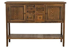 Lestor Sideboard, Oak Finish