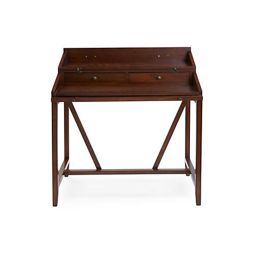 elgin writing desk walnut