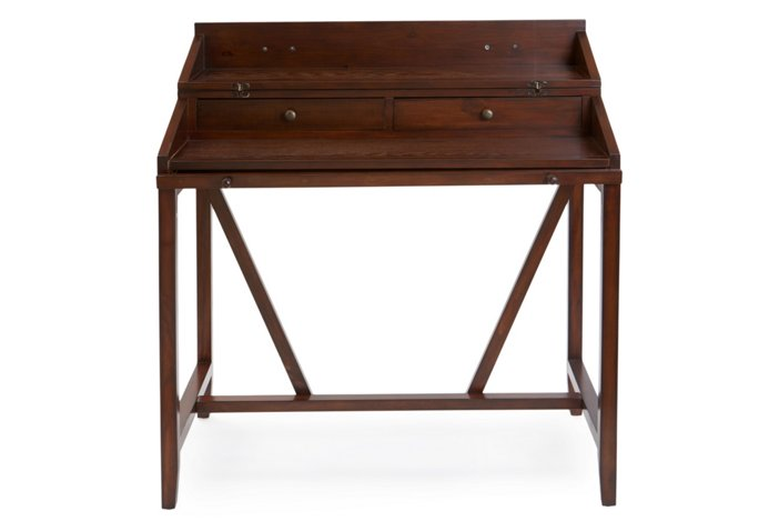 Elgin Writing Desk Walnut Desks Office Furniture One Kings Lane
