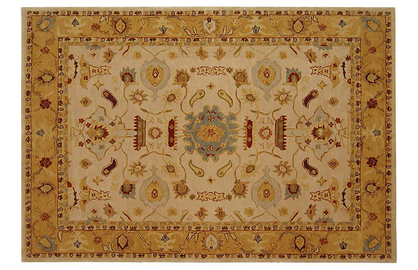 Corinne Rug, Goldenrod/Cream