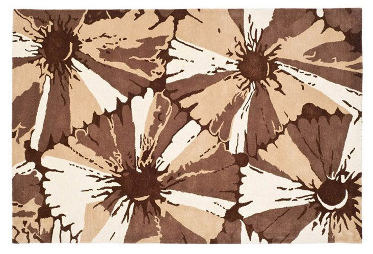 Soho Rug, Brown/Ivory
