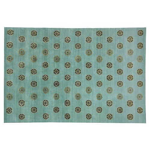 Thomas O'Brien Corsaro Rug, Teal/Multi