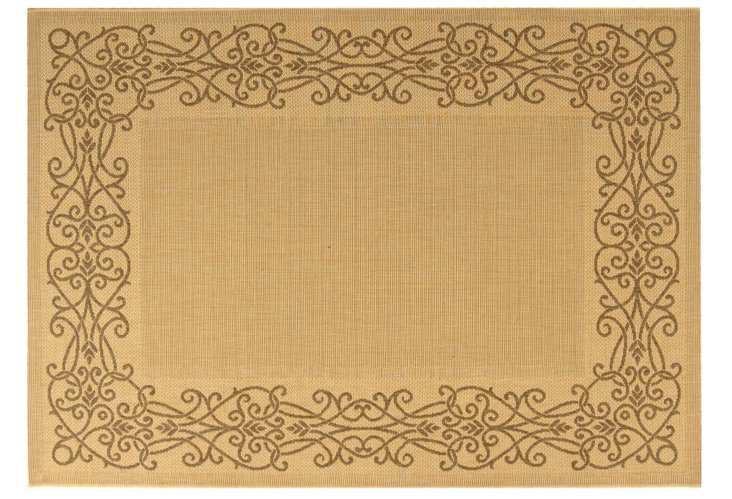 Firth Outdoor Rug, Gold/Brown