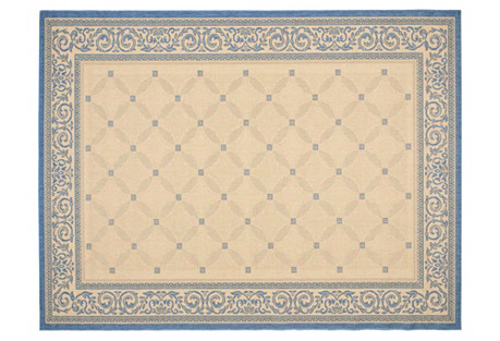 Stewart Outdoor Rug, Blue