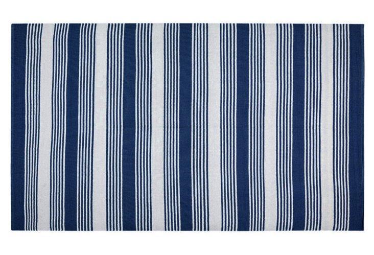 5'x8' Thom Filicia Outdoor Rug, Navy