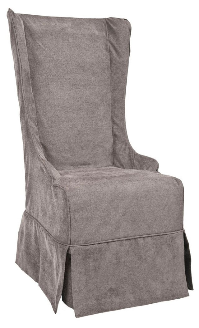Elijah Slipcover Chair, Chalk