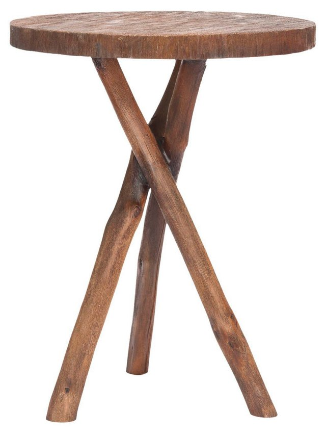 Heidi Tripod End Table, Oak