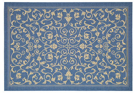 Aaron Outdoor Rug, Blue