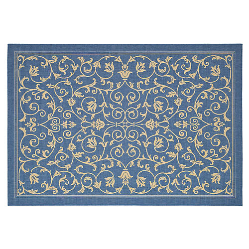 Terrace Outdoor Rug, Blue