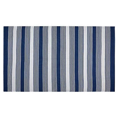 Thom Filicia Plastic Rug, Navy
