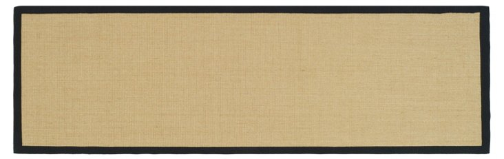 Lily Sisal Runner, Maize/Black