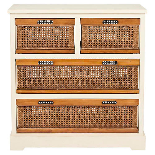 Virginia 4-Drawer Storage Unit, Ivory