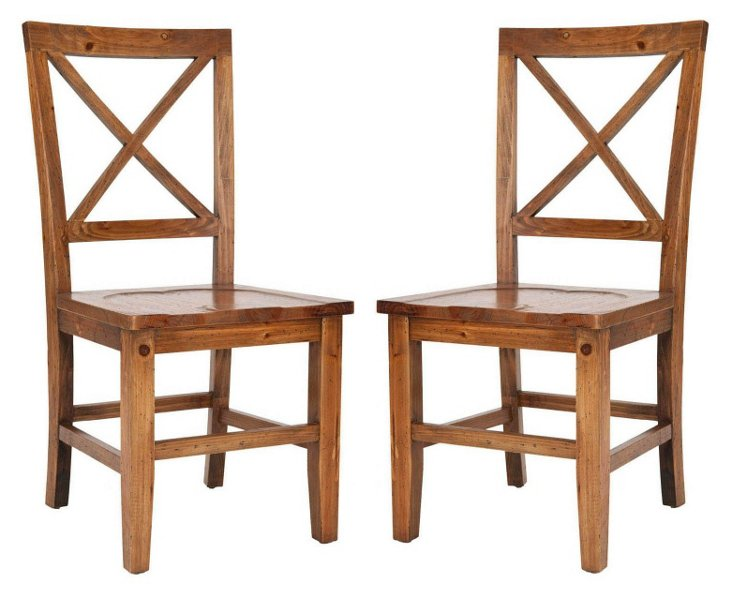 Emma Dining Chairs, Pair