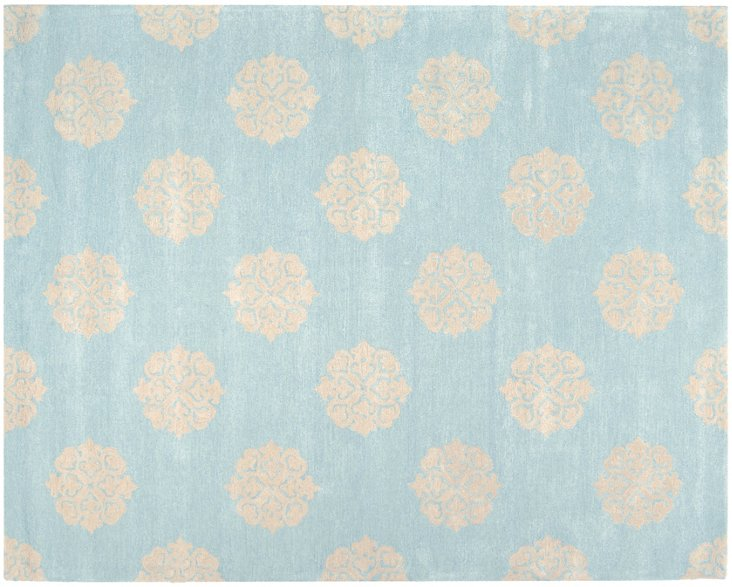 """2'6""""x8' Greenwich Runner, Turquoise"""