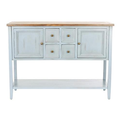 "Kerry 46"" Rustic Sideboard, Light Blue"