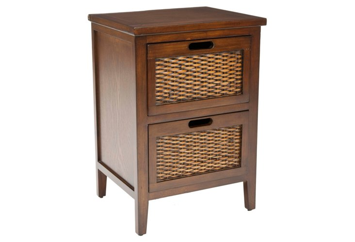 Aimee Nightstand, Dark Walnut