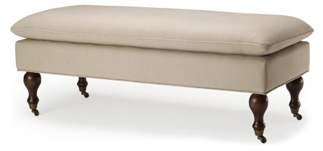 Nikolette Pillow-Top Bench, Sand