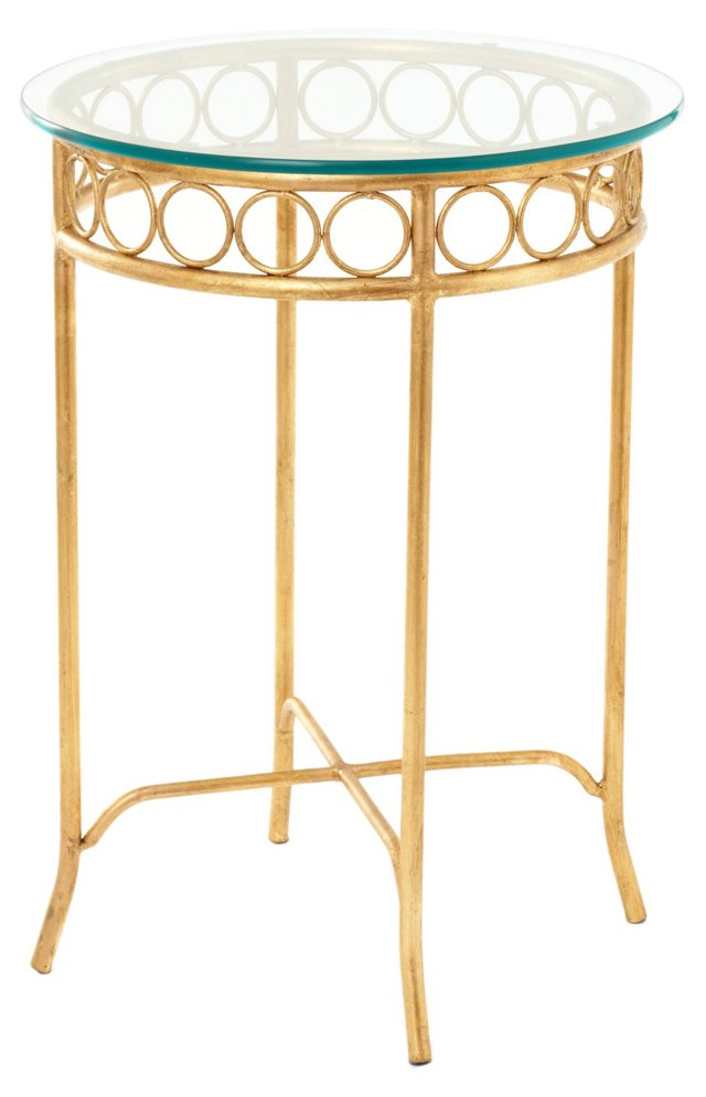 Hagan Side Table, Gold