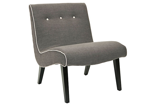 Maxwell Chair, Charcoal/Beige