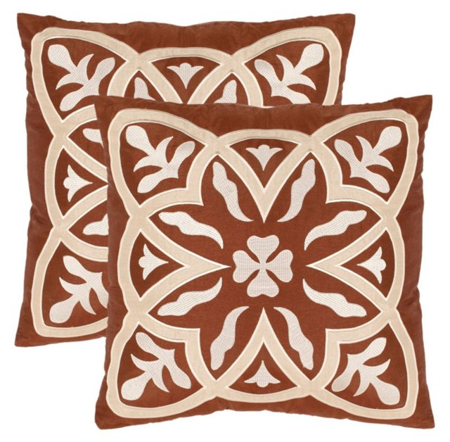 S/2 Draco 18x18 Pillows, Brown