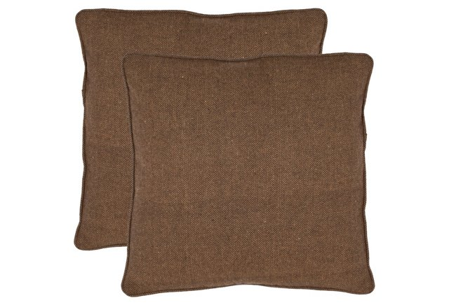 S/2 Max 18x18 Pillows, Brown