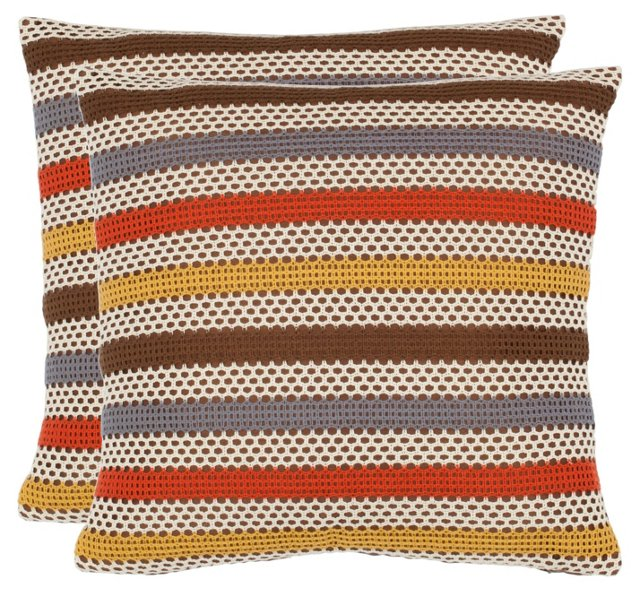 S/2 Bleeker 18x18 Pillows, Brown