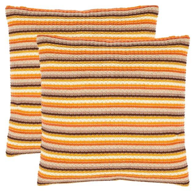S/2 Goya 18x18 Pillows, Orange