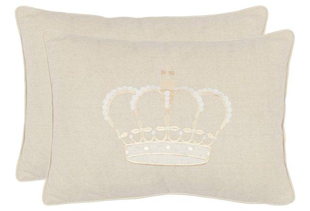 S/2 Sammy 13x19 Pillows, Cream