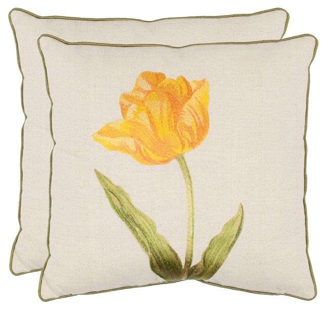 S/2 Calycopis 18x18 Pillows, Yellow
