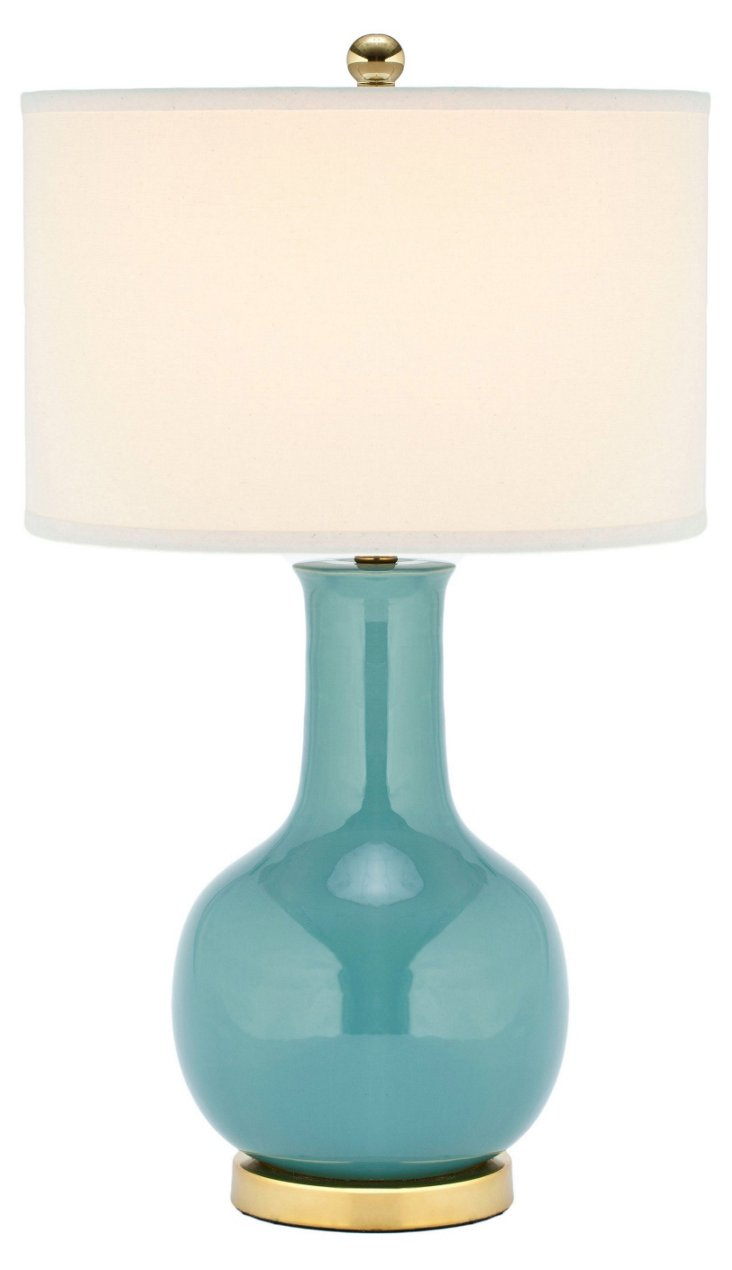 Evelyn Table Lamp, Blue