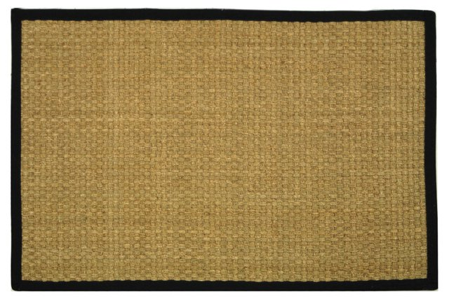 Malcom Sea Grass Rug, Wheat/Black
