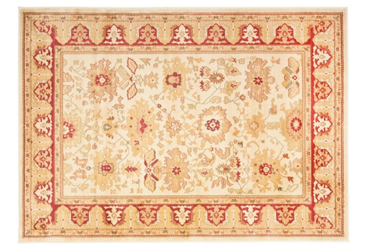 Charlotte Rug, Cream/Red
