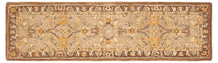 "2'3""x8' Mira Runner, Taupe/Brown"