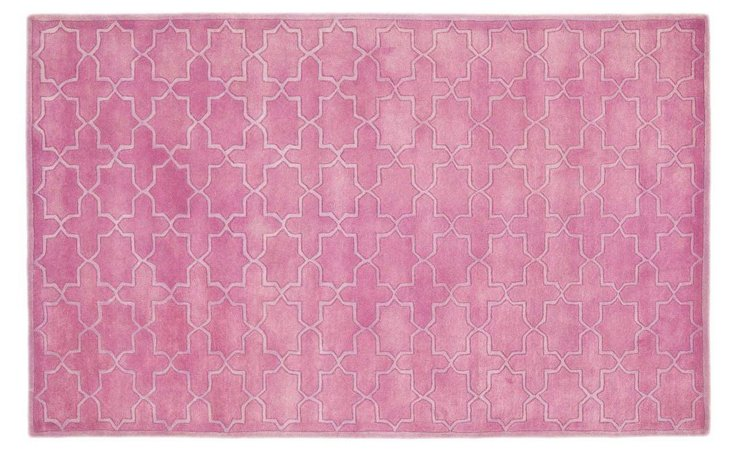 6'x9' Cordelia Rug, Pink