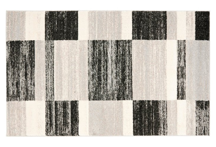Rez Rug, Black/Gray/Ivory