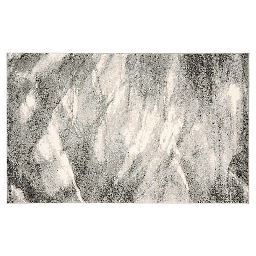 Willa Rug, Gray/Ivory